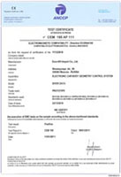 European certificate of conformity CE for measuring system Siver Data